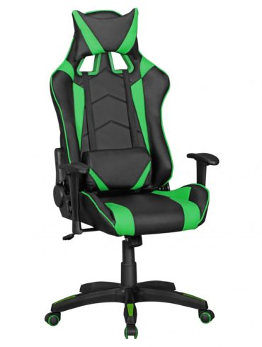 ® Office cuir Chaise SCORE regarder noir vert chaise de bureau chaise exécutive président de jeu Chaise / pivotant Sport Racing Optics 1