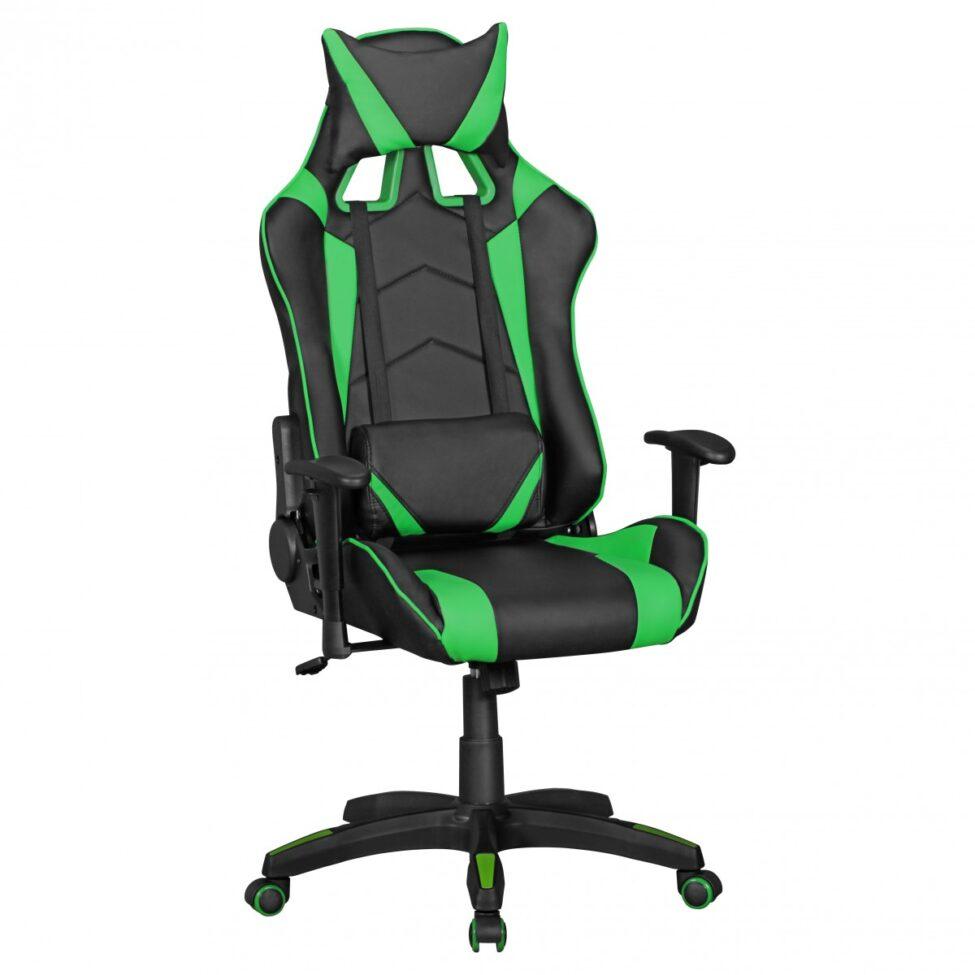 ® Office cuir Chaise SCORE regarder noir vert chaise de bureau chaise exécutive président de jeu Chaise / pivotant Sport Racing Optics