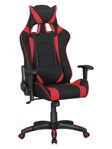 ® Office tissu président SCORE bureau noir / rouge fauteuil de direction Chaise de jeu Chaise pivotante Chaise Sport Racing Optics 1