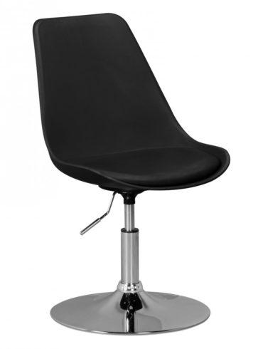 CORSE ; siège en cuir Chaise pivotante imitation noir ; Chaise pivotante réglable en hauteur ; Tabouret pivotant avec dossier 1