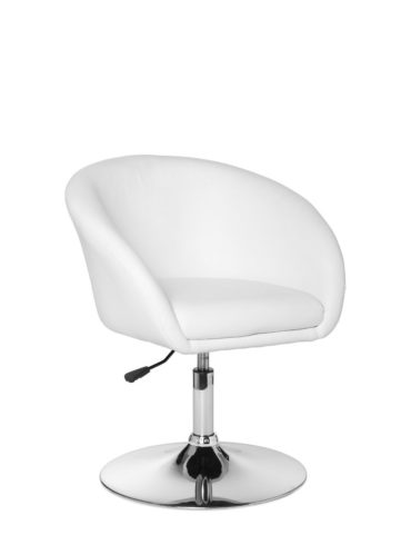 Relaxsessel chaise LIFT Lounge couvre couleur imitation cuir blanc chaises cocktail aspect cuir fauteuil club 120 kg X-XL 1