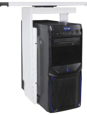 ® support PC 360 ° Support universel d' ordinateur de 46 à 68 cm blanc ; Support de bureau avec système gigogne ; Sous-compteur de montage réglable hauteur 1