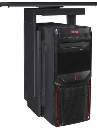® support PC 360 ° Computer Support universel 46-68 cm noir ; Support de bureau avec système gigogne ; Sous-compteur de montage réglable hauteur 1