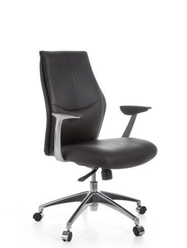 chaise de bureau OXFORD 2 cuir chaise de bureau noir X-XL 120 kg exécutif mécanisme synchrone repose – tête Fauteuil ergo 1