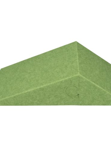 3D Panneau mural acoustique CALM 60,5×30,5x15cm Insonorisation vert avec housse en tissu ; Isolation acoustique pour le mur ; Panneaux d'absorption acoustique ; Panneau acoustique coloré ; Absorbeur de silencieux de conception 1