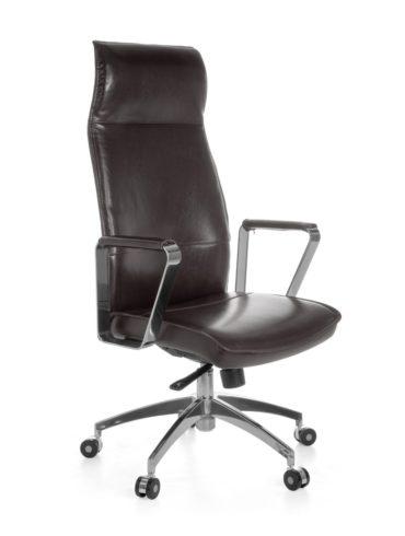 cuir chaise de bureau brun chaise de bureau référence VERONA X-XL 120 kg mécanisme synchrone Fauteuil de direction appuie – tête 1