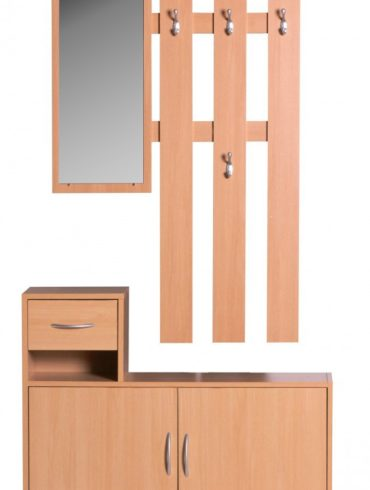 armoireJulia Beech 90 cm avec miroir et Wandgarderobe 1