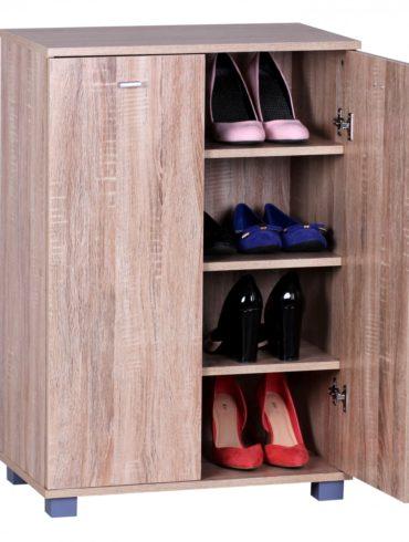 placard à chaussures 2 portes 60 x 90 x 35 cm Sonoma 12 paires de chaussures 1