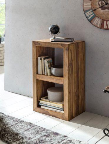 debout étagères 88cm de haut 2 étagères style campagnard de table design étagère produit naturel en bois massif Sheesham bois 1