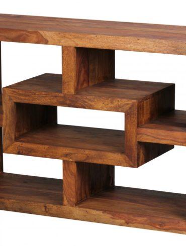 bibliothèque en bois massif Sheesham 105 x 70 cm Living-shelf plateaux étagères debout de style campagnard de conception 1