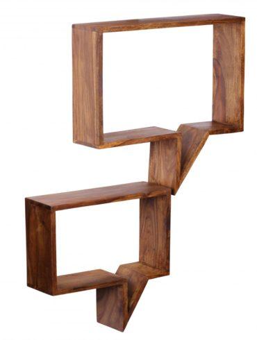 Ensemble de 2 étagères murales en bois de palissandre bois étagères style campagnard solide Hängeregal bois véritable Wandboard produit naturel 1