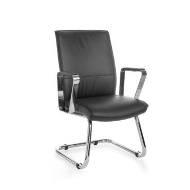 19005-AMSTYLE-Freischwinger-VERONA-Visitor-Bezug-Echt-Leder-Schwarz-Schwingstuhl-XXL-Chrom-120kg-Besucherstuhl-Design-Konferenzstuhl-Beistellstuhl-Wartestuhl-Sessel-Meetingstuhl-Frei
