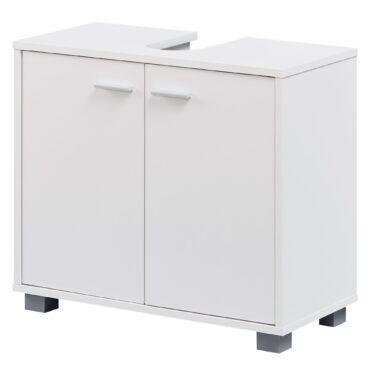 35998-WOHNLING-Design-Waschbeckenunterschrank-WL1-344-Badunterschrank-mit-2-Tueren-Weiss-Kleiner-Schrank-Badezimmer-60-cm-Breit-Badschrank-Waschbecken-Stehend-Bad-Aufbewahrung-Was