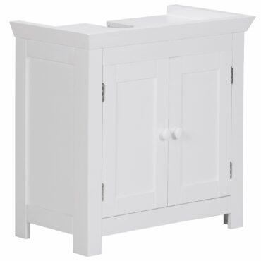 36003-WOHNLING-Design-Waschbeckenunterschrank-WL1-350-Badunterschrank-mit-2-Tueren-Weiss-Kleiner-Schrank-Badezimmer-57-cm-Breit-Badschrank-Waschbecken-Stehend-Bad-Aufbewahrung-Was