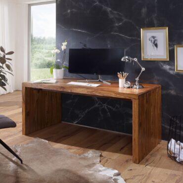 36261-WOHNLING-Schreibtisch-BOHA-Massiv-Holz-Sheesham-Computertisch-160-cm-breit-Echtholz-Design-Ablage-Buero-Tisch-Landhaus-Stil-Echtholz-indisch-landhausstil-modern-palisander-Na_1