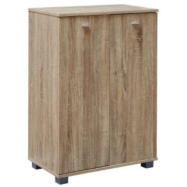 38333-WOHNLING-Design-Schuhschrank-TAJA-modern-Holz-Sonoma-12-Paar-Schuhe-4-Faecher-2-Tueren-Schuhregal-60x90x35-cm-platzsparend-Schuhkommode-Flurschrank-mit-Ablage-60-cm-flur-kommod