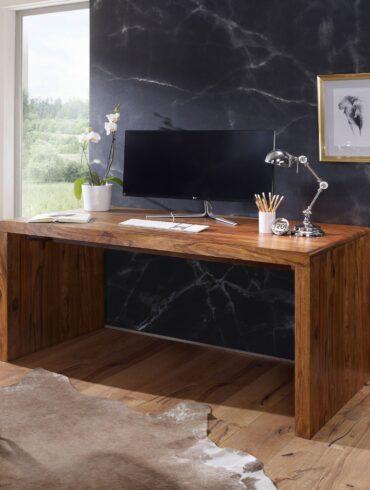 38365-WOHNLING-Schreibtisch-BOHA-Massiv-Holz-Sheesham-Computertisch-180-cm-breit-Echtholz-Design-Ablage-Buero-Tisch-Landhaus-Stil-Echtholz-indisch-landhausstil-modern-palisander-Natu