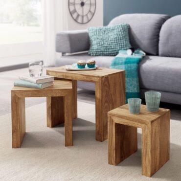 38376-WOHNLING-3er-Set-Satztisch-MUMBAI-Massiv-Holz