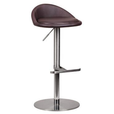 38822-WOHNLING-Barhocker-WL1-602-Braun-Edelstahl-hoehenverstellbare-Sitzhoehe-54-79-cm-Design-Barstuhl-mit-Rueckenlehne-Bistrohocker-Barsitz-Gepolstert-Thekenhocker-360-Drehbar-_1