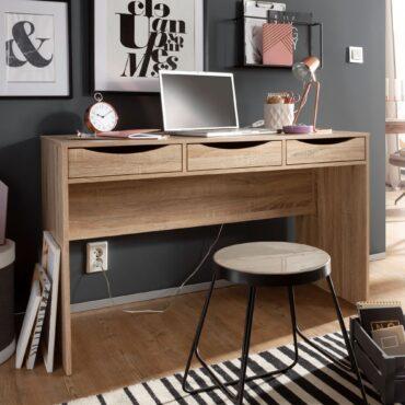 40528-WOHNLING-Schreibtisch-SAMO-120-cm-Design-Buerotisch-Sonoma-Eiche-modern-Jugendschreibtisch-3-Schubladen-und-Stauraum-platzsparend-fuer-Heranwachsande-Jungen-Maedchen-PC-Tisch-_1