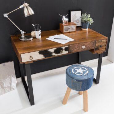 43714-WOHNLING-Schreibtisch-PATNA-120-x-60-x-79-cm-Massiv-Holz-Laptoptisch-Mango-Natur-Landhaus-Stil-Arbeitstisch-mit-Schubladen-Buerotisch-PC-Tisch-Schreibtisch-Laptoptisch-Arbeitsti