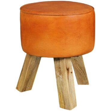 43726-WOHNLING-Design-Sitzhocker-WL5-102-Holz-37x45x37-cm-Modern-Fusshocker-Rund-Turnbock-Lederhocker-Holzbeine-Kleiner-Hocker-Massivholz-mit-Leder-Gepolstert-Holzhocker-mit-Echt_1