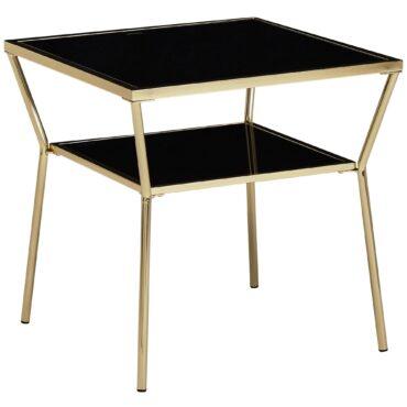 52210-WOHNLING-Design-Couchtisch-50x50x50cm-Schwarz-Gold-WL5-991-Glas-Metall-Sofatisch-Kleiner-Wohnzimmertisch-Quadratisch-Glastisch-Eckig-Modern-Beistelltisch-Gross-Salontisch-Kl