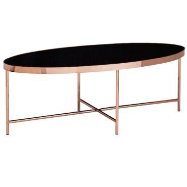 52213-Wohnling-Design-Couchtisch-Oval-110-x-40-cm-Spiegel-Glas-Wohnzimmertisch-mit-Metallgestell-in-Rose-Gold-Glastisch-Wohnzimmer-metallgestell-kleine-r-sofa-tische-ovale-anstelltisc