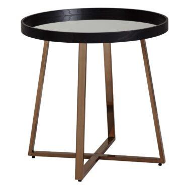 52222-WOHNLING-WL6-001-Design-Beistelltisch-Schwarz-Rosegold-Metall-Glas-Couchtisch-Modern-Kleiner-Wohnzimmertisch-Metalltisch-mit-verspiegelter-Glasplatte-Blumentisch-kaffeetisc