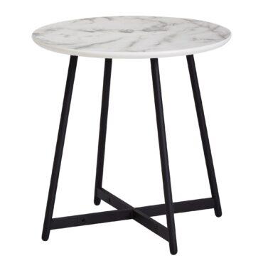 52224-WOHNLING-Beistelltisch-Marmoroptik-50-x-50-cm-WL6-003-Wohnzimmertisch-Schwarz-Weiss-Kaffeetisch-Rund-Design-Blumentisch-marmor-platte-marmor-tische-tisch-e-couch-tische-klein