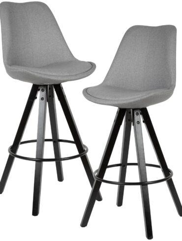 54471-WOHNLING-2er-Set-Barhocker-LIMA-Grau-Retro-Design-Stoff-Holz-schwarze-Beine-mit-Lehne-Design-Barstuhl-Retro-Skandinavisch-2-Stueck-Tresenhocker-Sitzhoehe-77-cm-WL6-127-WL6-127